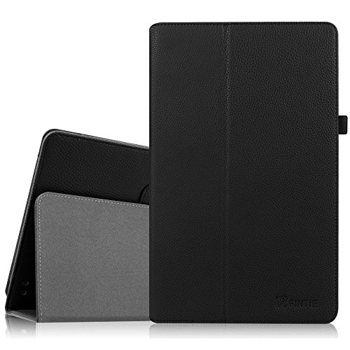 Fintie Case for Dragon Touch X10 (Previous Edition, 2015 Release) / Azpen A1050 / Fusion5 108 10.6-Inch Tablet - Premium PU Leather Folio Cover with Stylus Holder, Black