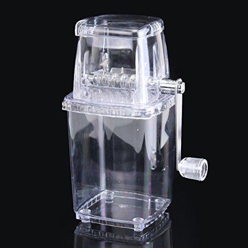 Manual Ice Crusher,Gordan Portable Ice Manual Shaver Block Shaving Machine Crusher Snow Ice Cone Maker Transparent by Gordan