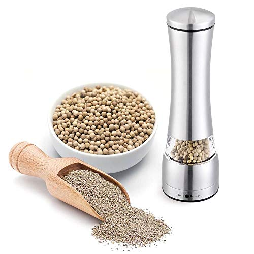 Stainless Steel Manual Pepper Grinder Salt Spice for Cooking Kitchen Food Mill