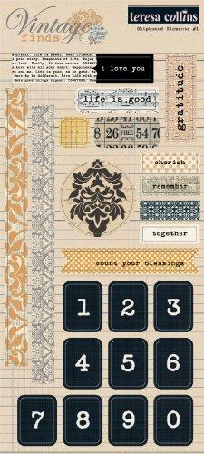 ns Vintage Finds Chipboard Elements 1 ()