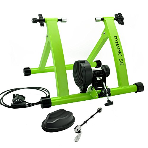 DYNAMIC SE Indoor Bike Trainer Indoor Eexercise Bicycle Magnetic Trainer Stand 6 Levels Magnetic Resistances with Quick Release Skewer (Trainer Bike)
