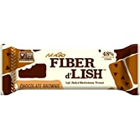 NuGO Fiber d'Lish Nutritional Chocolate Brownie Bar, 16 Count