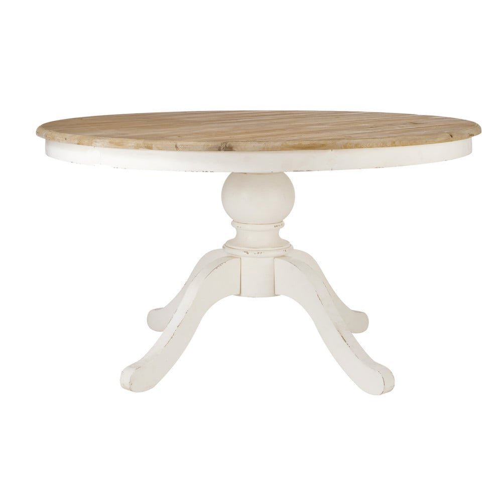 Mesa comedor redonda extensible blanca: Amazon.es: Handmade