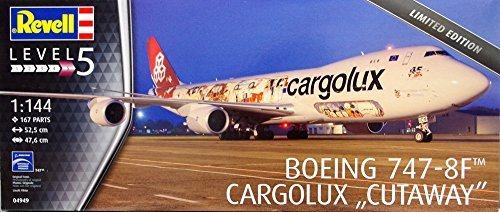 04949 1/144 Boeing 747-8F Cargolux Cutaway Ltd. Ed. by Revell of Germany