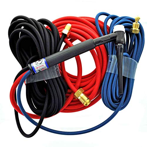 CK TL18 Water Cooled Trim-Line TIG Torch Kit, Flex, 350A, 25', 3-Pc, S
