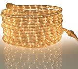 Tupkee Rope Light Clear - for Indoor and Outdoor use, 24 Feet (7.3 m) - 10MM Diameter - 288 Clear Incandescent Long Life Bulbs Rope Lights