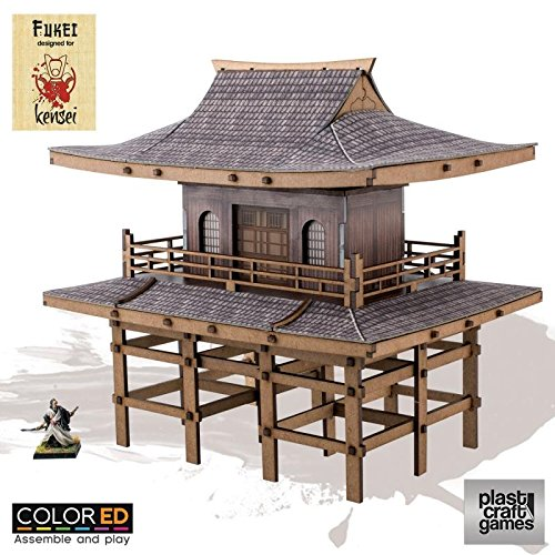Plast Craft Games Kensei Colored Miniature Gaming Model Kit 28 mm Sanmon Gate