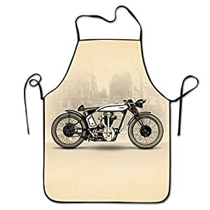 Motorcycles Restaurant Home Kitchen Kitchen Cooking Apron For Women And Men, Apron Bib For Cooking, Grill And Baking, Crafting, Gardening - Adjustable Neck Strap