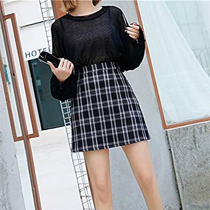 c301502ed0 Amazon.com: DHmart Skirts Womens Fashion Plaid Vintage Skirt Femme ...