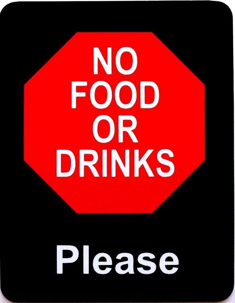 PotteLove No Food Or Drinks Please Retail Store Policy Sign Business Signs Decor Novelty Art Sign Funny Aluminum Metal Tin Signs 8