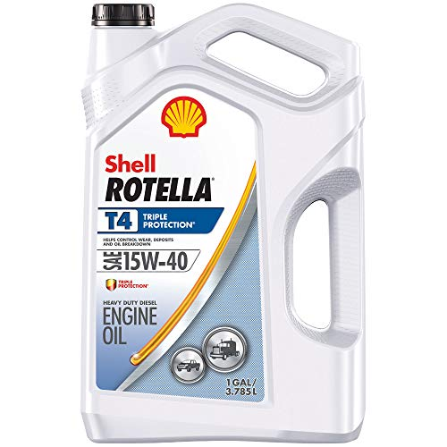Shell Rotella T4 Triple Protection 15W-40 Diesel Motor Oil (1-Gallon, Case of 3)