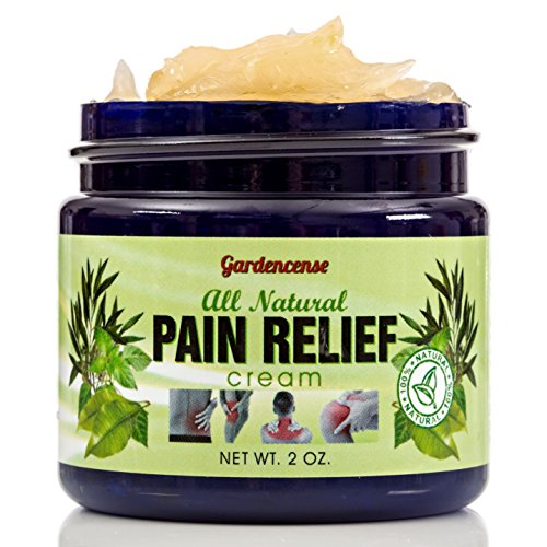 Gardencense Natural Pain Relief Cream - Relieve Arthritis, Joints, Back & Neck Pain