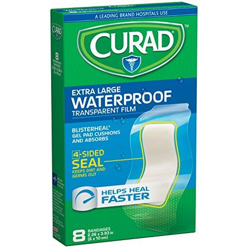 Curad Waterproof Blisterheal Hydrocolloid, Clear, 8 - Water Sterile Medline