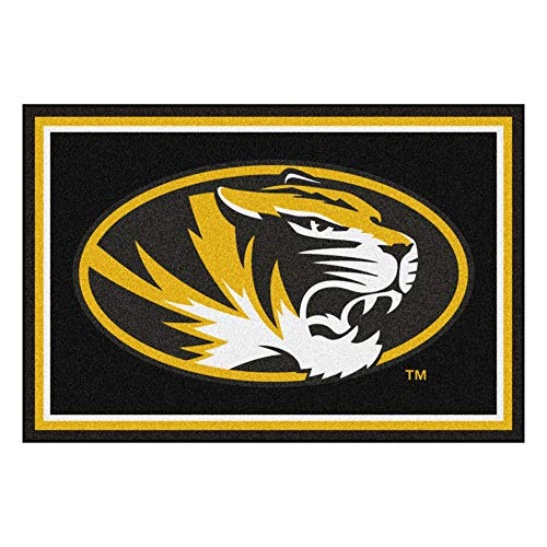 NCAA University of Missouri Tigers 5 x 8 Foot Plush Non-Skid Area Rug