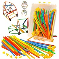 divine man Baby Puzzle 100pcs Children's Puzzle Straw Blocks Pipette Stitching Assembly Straw Build Blocks Creative Toy