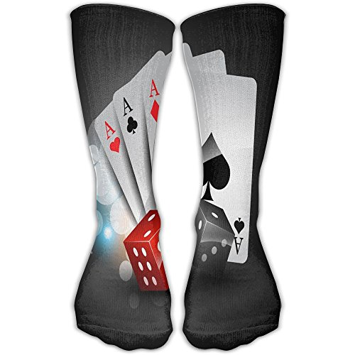 HXXUAN Thigh High Socks Four A Poker Card Knee High Socks 30cm Stockings
