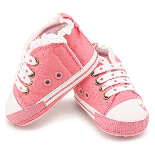 Neugeborenen Prewalker Rosa Jungen Sport Hunpta Sneakers Kleinkind Babyschuhe Mädchen Leinwand gfnqp