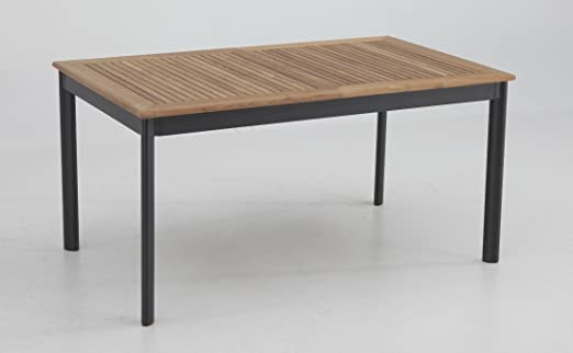 Mesa de terraza extensible aluminio teka Thule 152-210x90 cm ...