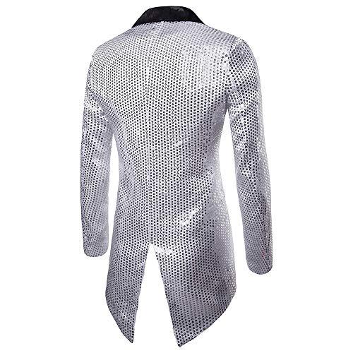 Top Robe Tops Manteau Mode Soirée Homme De Irrégulière Paillette Adeshop Veste Mèche Blazer Machaon Décontractée Button Chemise One Affaires vw7pvxqC