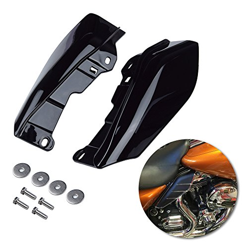 Set Deflector Air (Amazicha Black Mid Frame Air Heat Deflectors Trim Left Right Set for Harley Touring and Trike Models 2009-2016)