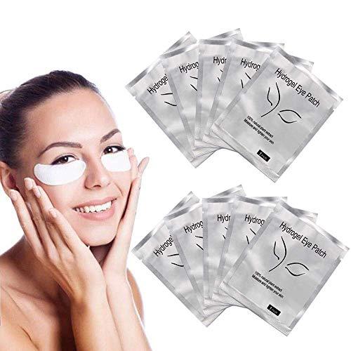 Hoctor Lint Free Eye Gel Patch, 100 Pairs Set Eyelash Pads, Lint Free DIY False Eyelash Lash Extension Makeup Eye Gel Patches