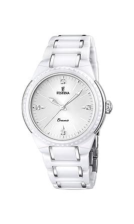 festina f reloj de pulsera mujer cermica color blanco