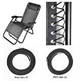 Universal Replacement Cords for Zero Gravity Chair(8 Cords), Replacement Laces for Zero Gravity Chairs, Zero Gravity Recliner Repair Tool for Lounge Chair, Bungee Chair Cord