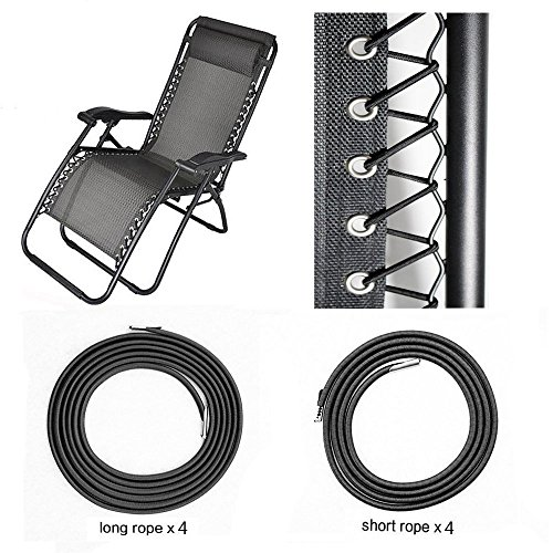 HZFS Universal Replacement Cords for Zero Gravity Chair(8 cords), Replacement laces for Zero Gravity Chairs, Zero Gravity Recliner Repair Tool for Lounge Chair, Bungee Chair - Outdoor Chair Zero Gravity Quality