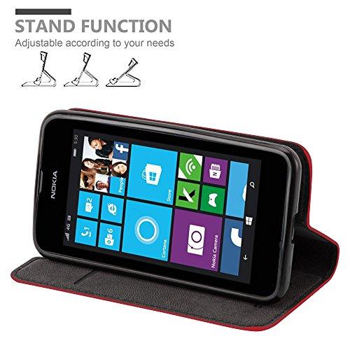Cadorabo - Funda Book Style Cuero Sintético en Diseño Libro para >                                  Nokia Lumia 530                                  <
