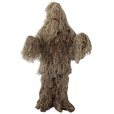Disfraz de camuflaje Ghillie Suit de desierto de Woodland CS ropa de caza Secrets: Amazon.es: Hogar