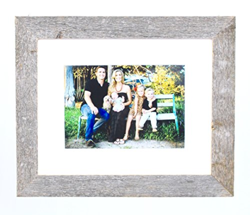 BarnwoodUSA Farmhouse Standard Picture Frame With White Mat (8×10) Review