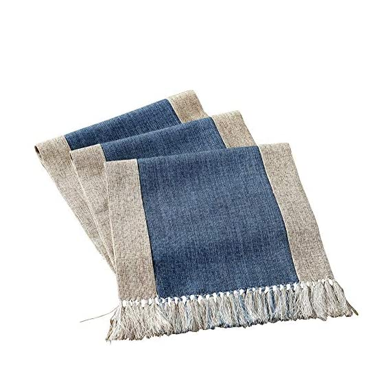 "HomeyHo Rustic Table Runner with Fringe Natural Home Table Runner Tea Party Table Runner Decorations Birthday Dinner… - Material: High quality cotton blend fabric Features: Handmade table runner with fringe, modern rustic style, with well skid resistance and heat resistant, provide your dinning table a look of elegant, it's a good choice for your dinner table, coffee table, tea table, end table, TV bench, shoes cabinet??Œrefrigerator and bed. Simple designs and fashion style, it will be a suitable gift for friends/workmate, also perfect for festivals(Thanksgiving, Halloween, Christmas, Easter, etc) Warn Tips: The recommended size is 20"" ~ 24""(50 ~ 60 cm) longer than your table. For different occasions, please choose the suitable size - table-runners, kitchen-dining-room-table-linens, kitchen-dining-room - 51LVlpcmOuL. SS570  -"