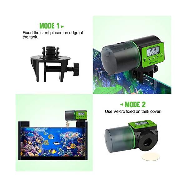 Torlam Auto Fish Feeder, Moisture-Proof Electric Auto Fish Feeder,Aquarium Tank Timer Feeder Vacation &Weekend 2 Fish Food Dispenser 3