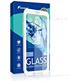 iPhone X Screen Protector, Foxnovo iPhone X Tempered Glass Screen Protector with Guide Frame Anti Scratch Glass Protector 3D Touch Clear Screen Protectors for iPhone X-3 Pack (iPhone X- 3 Pack)
