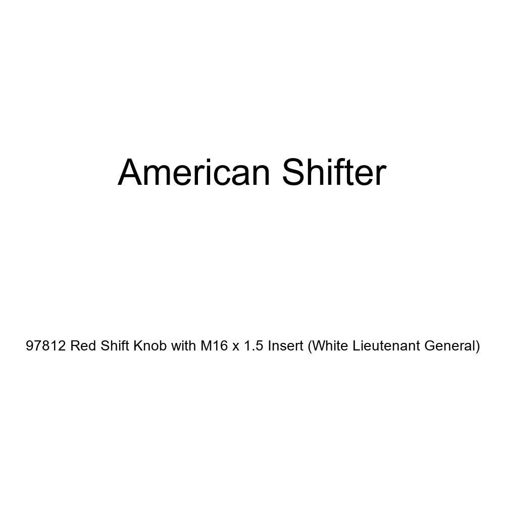 American Shifter 97812 Red Shift Knob with M16 x 1.5 Insert White Lieutenant General