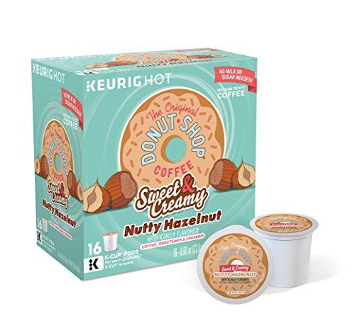 The Original Donut Shop 16 count Boxes of Single Serve Flavored Coffee (Nutty Hazelnut, 4) Coffee Shop Hazelnut Coffee