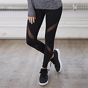 QINB Pantalones de Yoga Slim Pantalones Negros Puros para ...