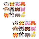 Foam Masks For Party Farm Animal Masks For Birthday EVA Zoo Face Assorted (24 pcs)