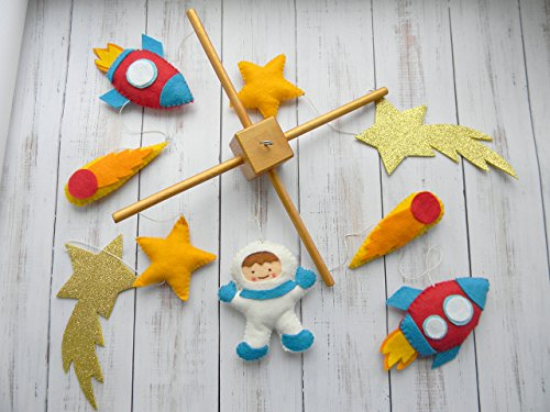 Space baby Mobile Rocket Mobile Baby Crib Mobile Space nursery mobile Baby boy mobile Handing mobile Space Nursery Decor Outer Space Theme