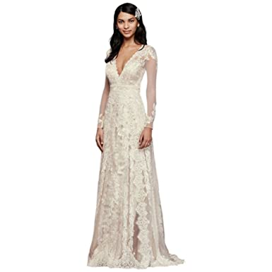 Melissa Sweet Linear Lace Petite Wedding Dress Style 7MS251173 ...