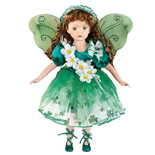 Women's Irish Fairy Porcelain Collectible Doll Decoration (St Pats Figurines)