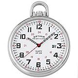 Gotham Men's Stainless Steel Analog Quartz Date Railroad Style Pocket Watch # GWC14107S