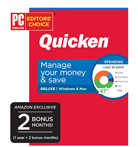 Quicken Deluxe Personal Finance - Manage Your Money and Save [Amazon Exclusive] [PC/Mac Disc]
