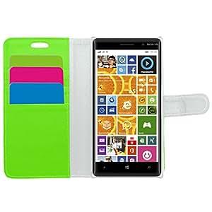 Ejecutivo Samrick especialmente diseñadas de cuero suave de la carpeta del libro con el titular de la tarjeta de crédito / tarjeta de visita para el verde Nokia Lumia 830