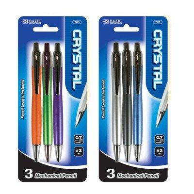 DDI 335032 BAZIC Crystal 0.7mm Mechanical Pencil - 4-Pack Case Of - Bazic Crystal