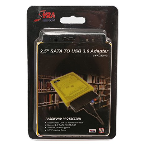 Syba USB 3.0 to SATA II HDD Adapter with 2 Storage Case for 2.5-Inch SATA Hard Drive SY-ADA20121