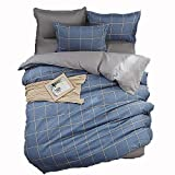 HHXQXB Bed Linen Hypoallergenic Bedding Set Fine Fabric Bedding Set with Year Round Duvet Zipper Bed Cover180 X 220 cm + Bed Sheet 230x230 cm, 2 Pillow Cover48x74cm