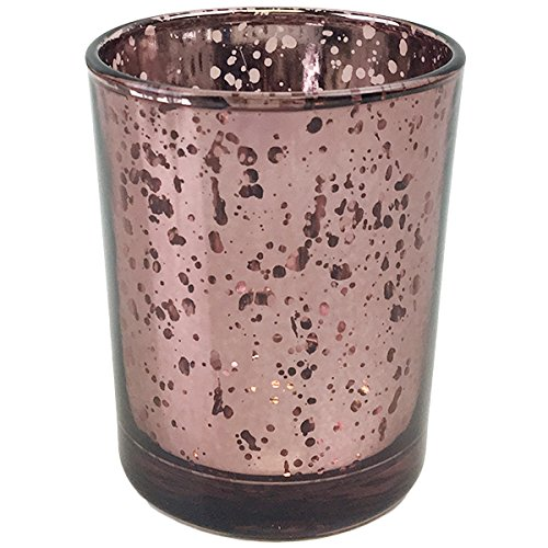 Just Artifacts (Bulk) Mercury Glass Votive Candle Holder 2.75''H (100pcs, Speckled Marsala) - Mercury Glass Votive Tealight Candle Holders for Weddings, Parties and Home Décor by Just Artifacts
