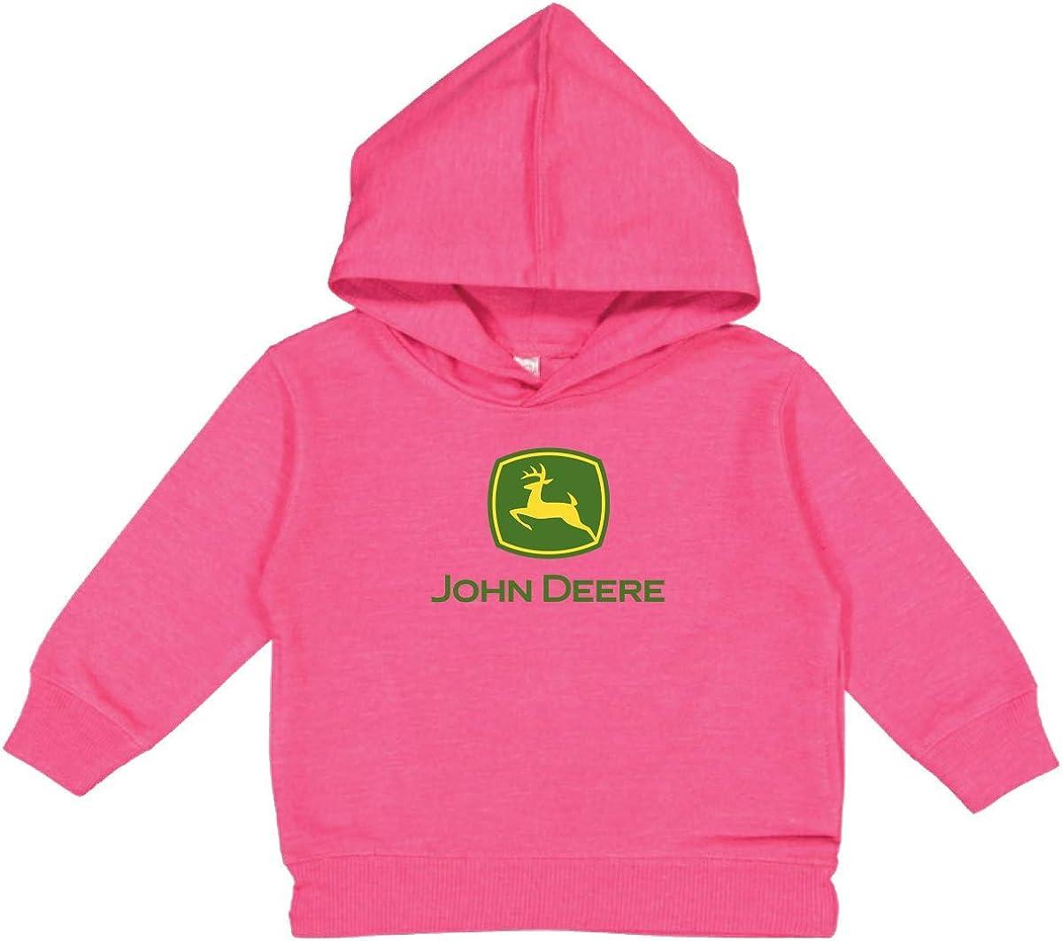 John Deere Youth Girl Hooded Sweatshirt-Hot Pink