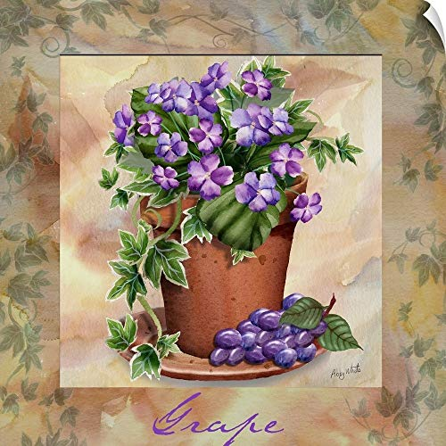 CANVAS ON DEMAND Grape Square Wall Peel Art Print, 35